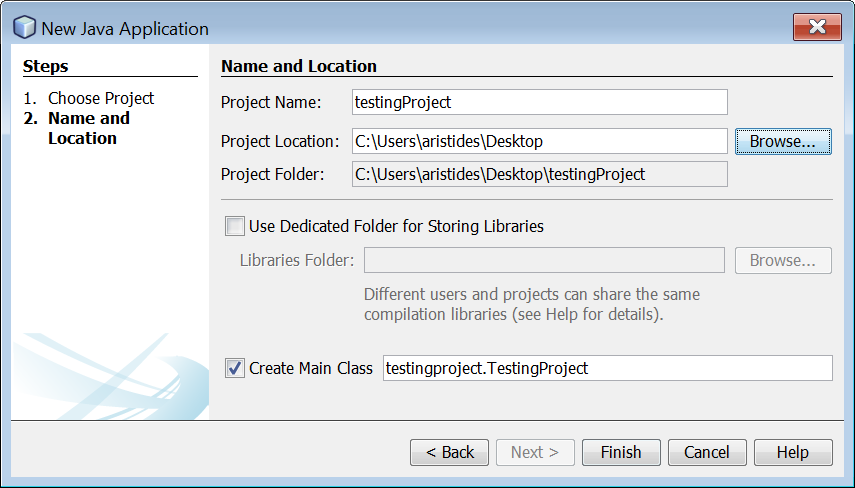 Creating a New Java Project in Netbeans IDE – Aristides S  Bouras